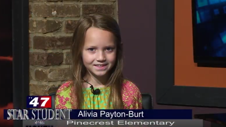Star Student of the Month- Alivia Payton-Burt