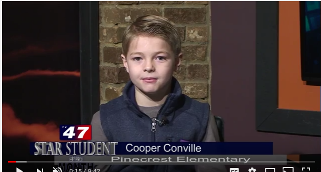 Pinecrest Star Student of the Month- Cooper Conville