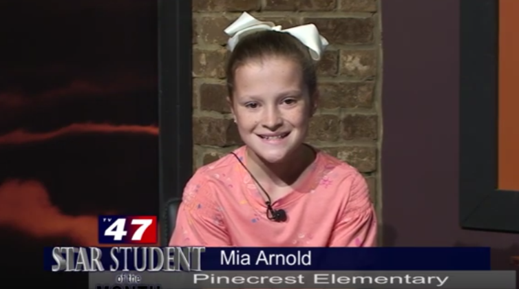 Mia Arnold Star Student of the Month