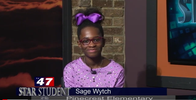 Pinecrest Star Student of the Month- Sage Wytch