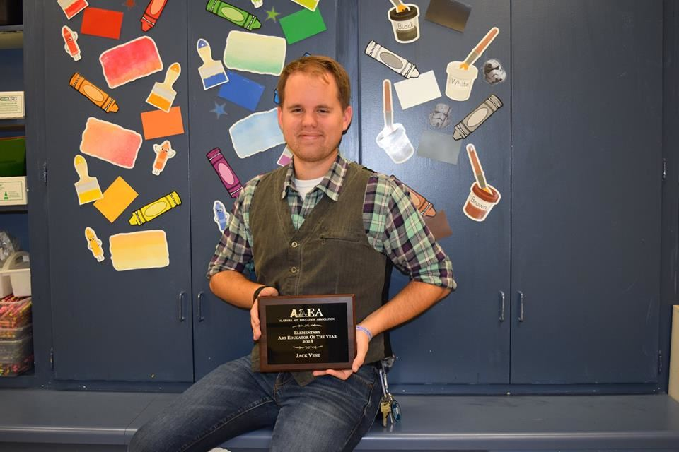 Mr. Vest- Art teacher receives state honor