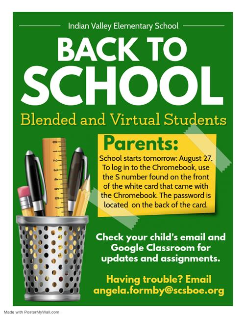 Blended and Virtual Students Beginning of the Year Reminders