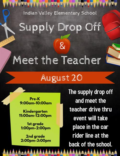 Meet the Teacher and Supply Drop Off Flyer