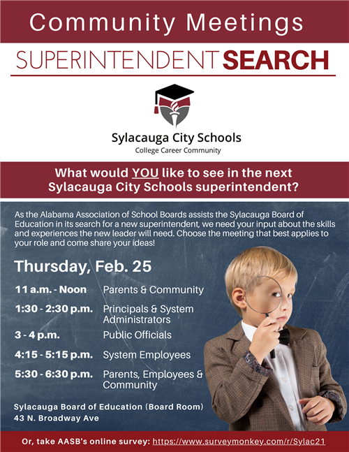 Superintendent Search Meetings