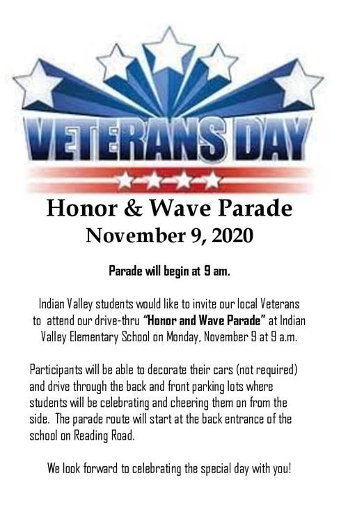 Honor and Wave Parade Invitation for Veterans
