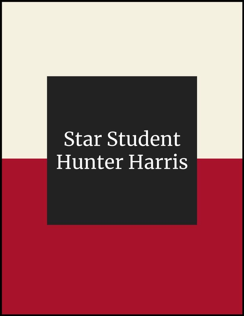 Star Student of the Month - Hunter Harris