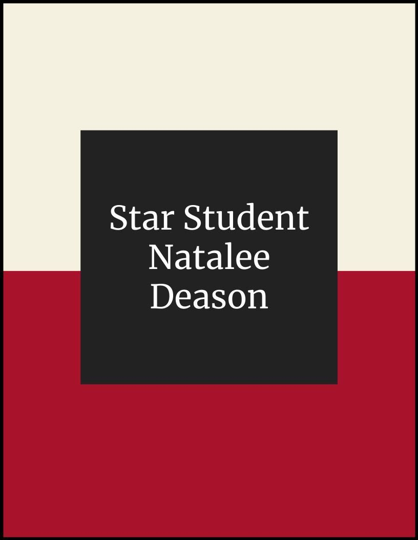 NLMS Star Student of the Month - Natalee Deason