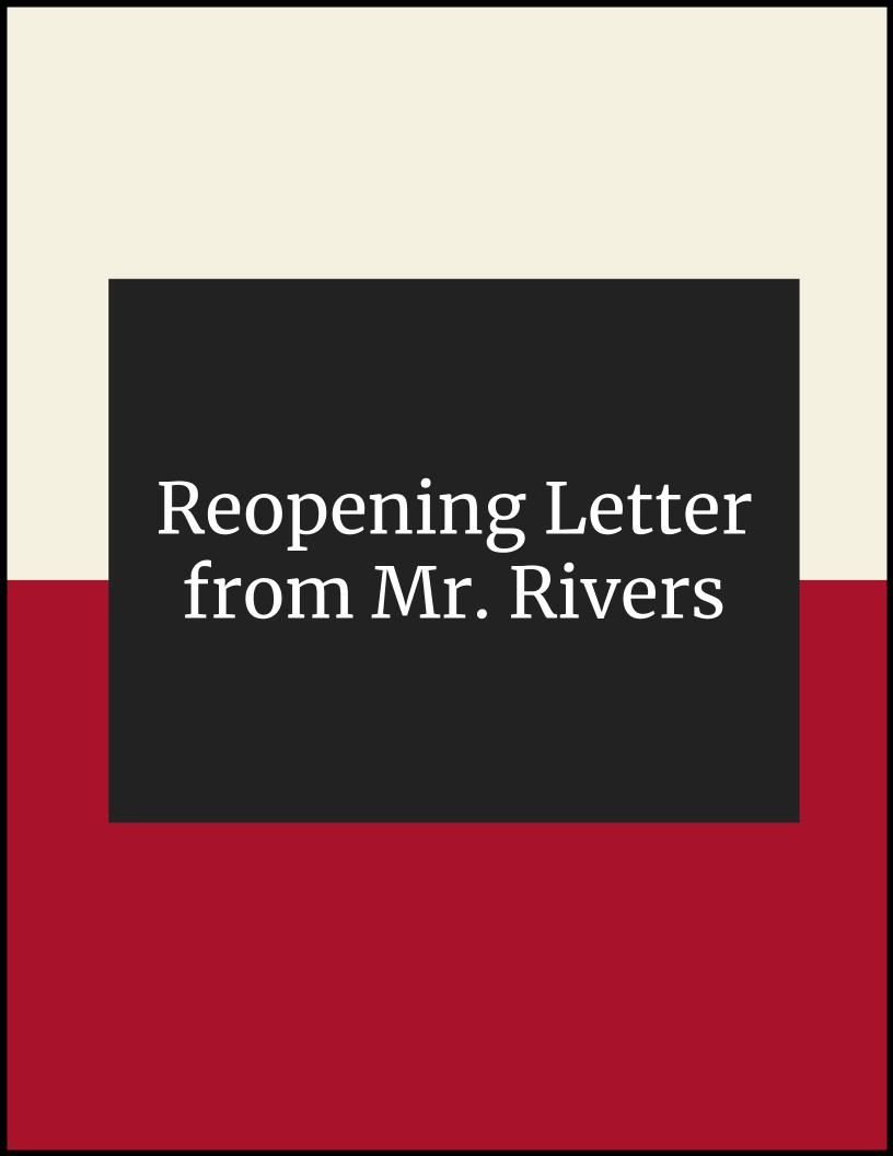 Reopening Letter from Mr. Rivers