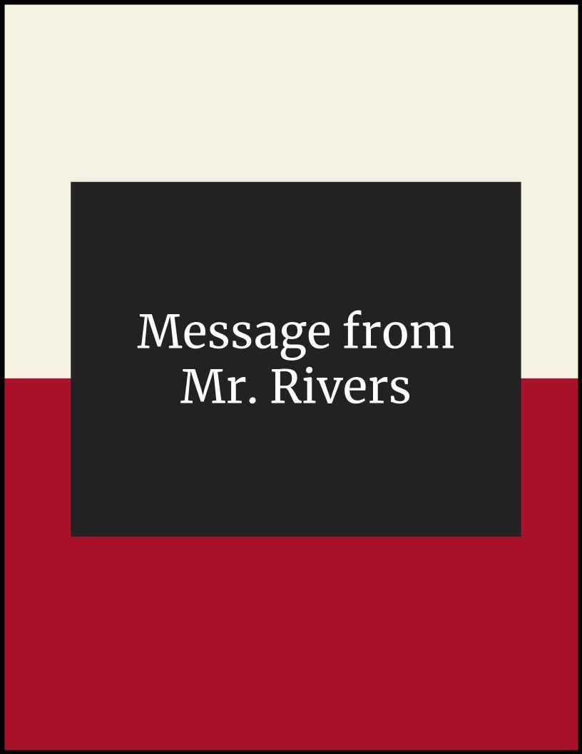 Message from Mr. Rivers