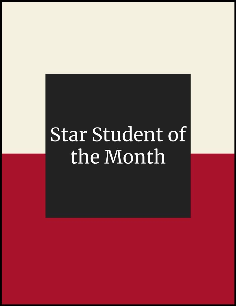 Star Student of the Month - Tessa Watts