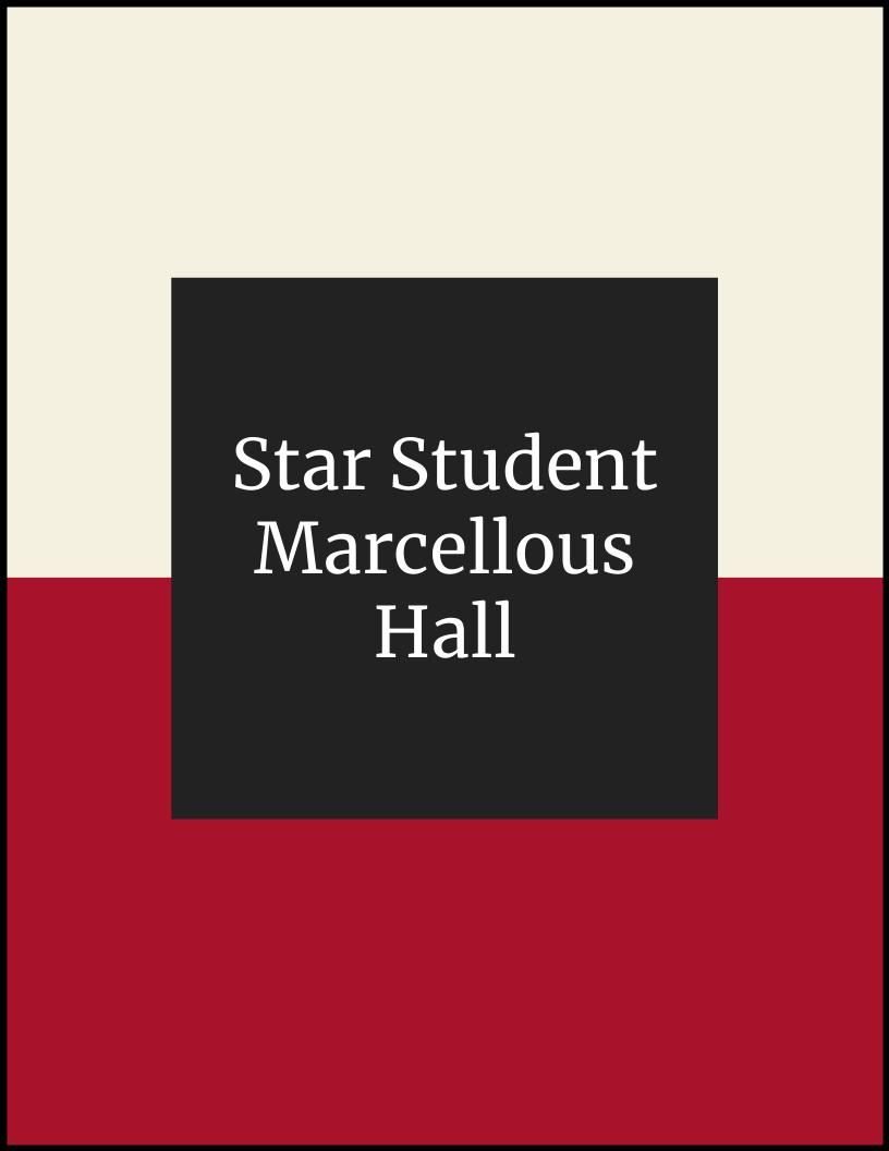 NLMS Star Student of the Month - Marcellous Hall