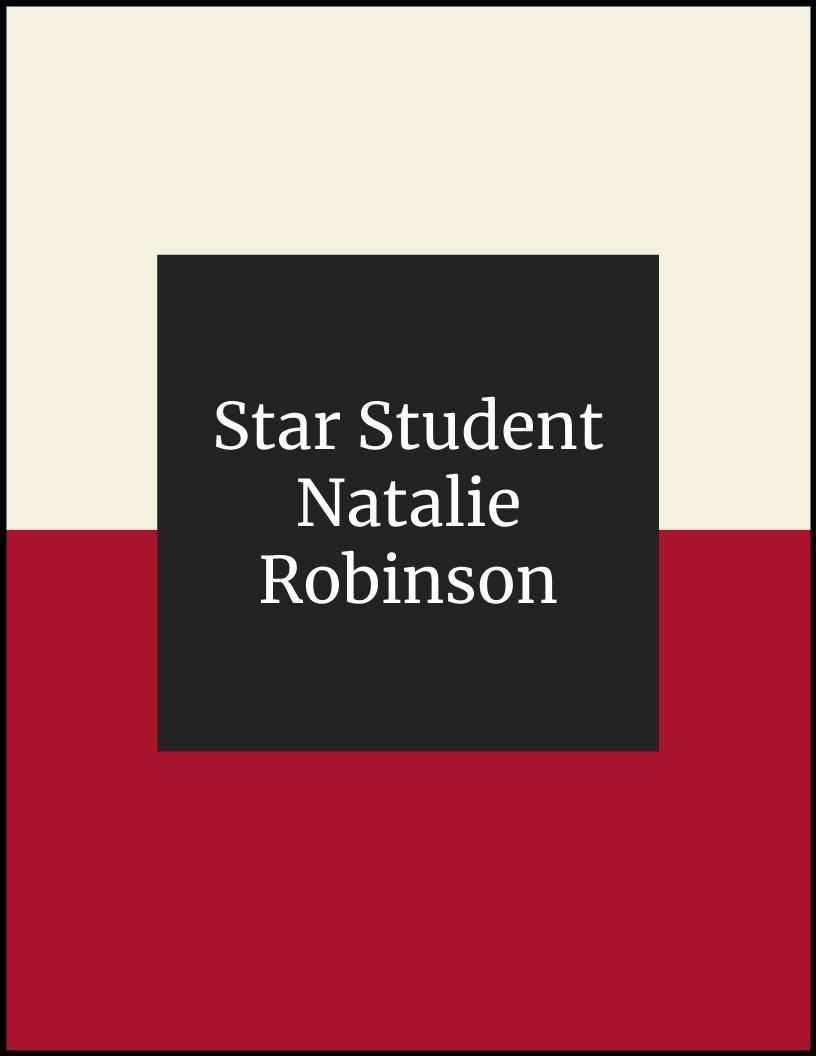 Star Student of the Month - Natalie Robinson