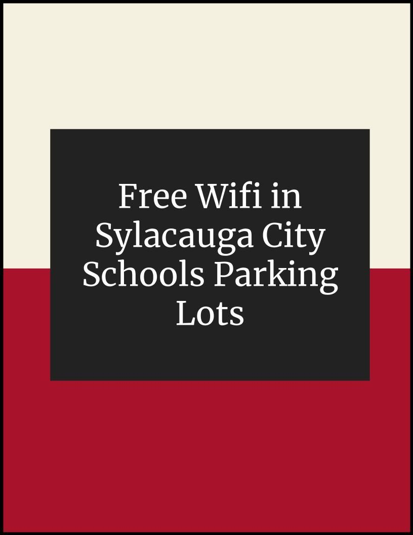 Free Wifi in Sylacauga City Schools Parking Lots